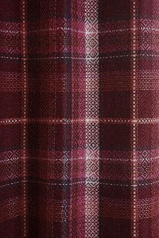 Dalton Check Eyelet Curtains Sample