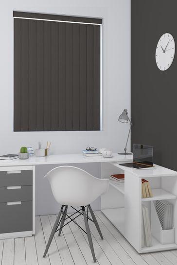 Room Darkening Zinc Brown Made To Measure Vertical Blind