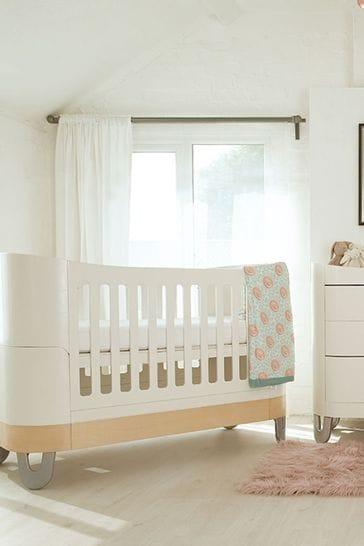 Gaia Set Complete Sleep And Dresser Set White/ Natural