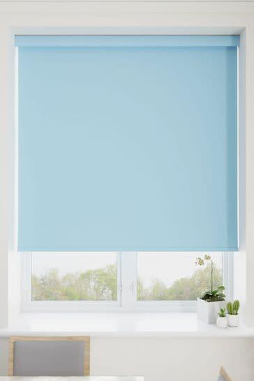 Haig Cornflower Blue Made To Measure Blackout Roller Blind