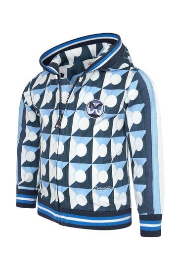 Dolce & Gabbana Baby Boys Blue Cotton Zip Up Top