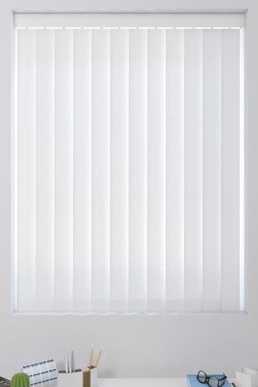 Room Darkening White Made To Measure Vertical Blind