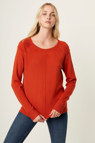 French Connection Orange Babysoft Vhari Crew Neck Jumper