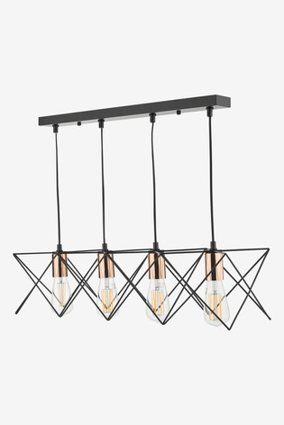 Dar Lighting Midi 4 Light Pendant