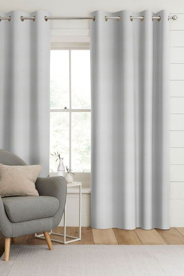 Jasper Frost White Made To Measure Curtains
