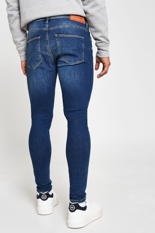 River Island Blue Medium Mustang Spray On Jeans