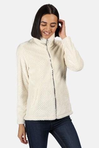 Regatta Cream Hermilla Velour Full Zip Fleece Sweater