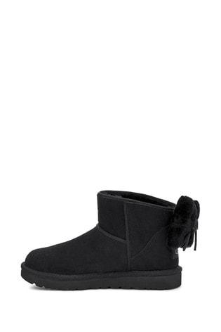 UGG® Classic Black Mini Bow Boots