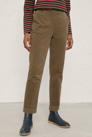 Seasalt Green Dark Seagrass Crackington Trousers