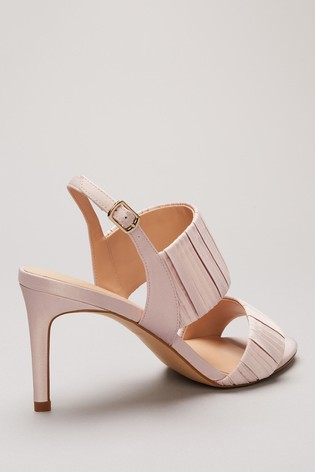 Phase Eight Pink Kitty Pleated Sandals