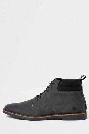 River Island Grey Casual Chukka Boots