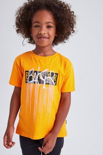 Baker by Ted Baker Orange Branded T-Shirt