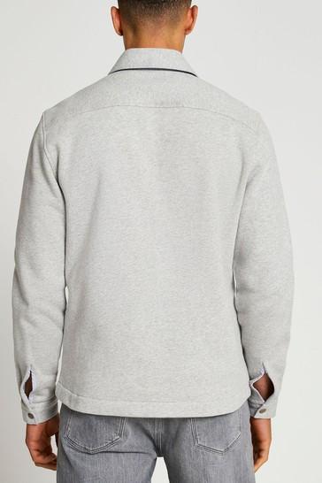 River Island Grey Marl Jersey Overshirt