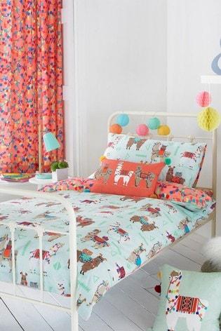 Little Furn Llamarama Duvet Cover and Pillowcase Set by Furn