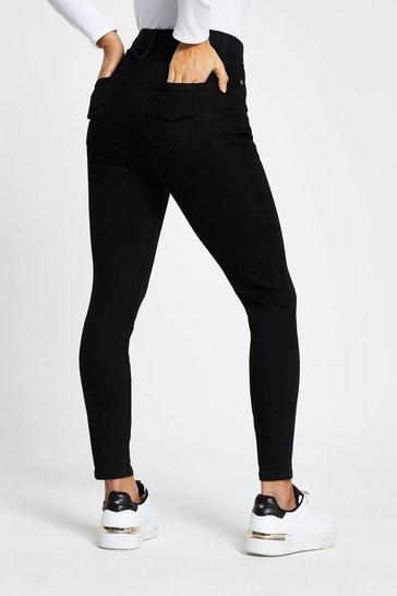 River Island Petite Black High Rise Skinny Jeans