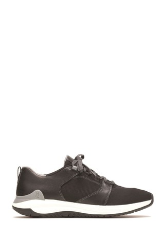 Hush Puppies Black Felix Lace-Up Trainers
