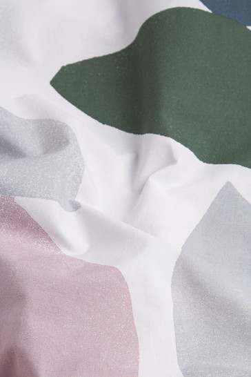 Marie Adeline at Next Multi Curve Geo 100% Organic Cotton Duvet Cover and Pillowcase Set