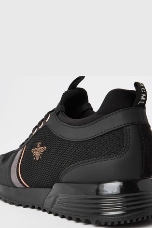 River Island Black Mesh Panel Wasp Runner Trainers