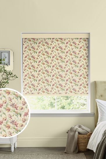 Laura Ashley Red Gosford Cranberry Made To Measure Roller Blind
