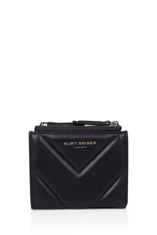 Kurt Geiger London Black Leather Mini Purse