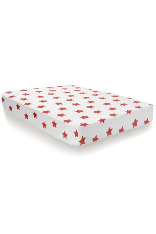 Stars Brushed Cotton Fitted Sheet by Bedlam