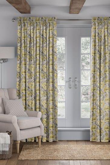 Cassandra Sunflower Yellow Made To Measure Curtains