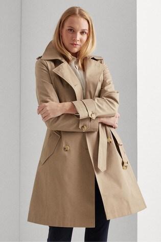 Lauren Ralph Lauren® Showerproof Hooded Trench Coat