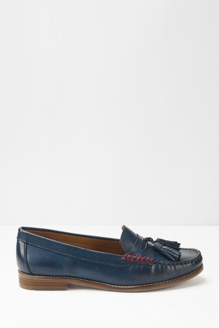 Buy White Stuff Navy Lexi Loafers from