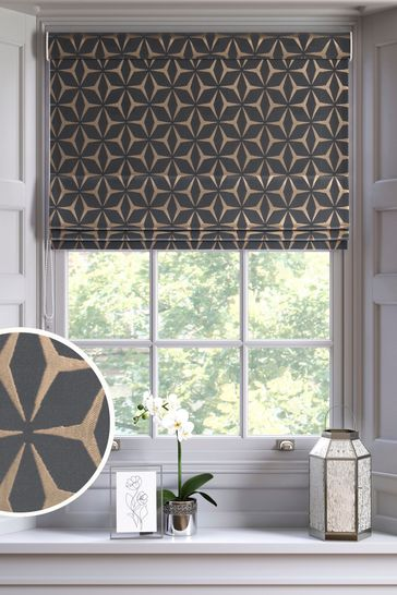 Bronze Geo Star Made To Measure Roman Blind