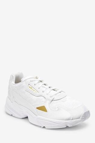 adidas Originals White Falcon Trainers