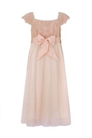 Monsoon Pink Estella Sparkle Dress