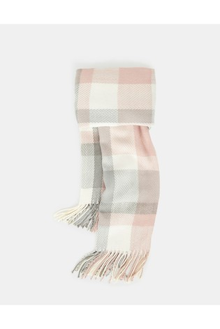 Accessorize Cream Poppy Pastel Check Blanket