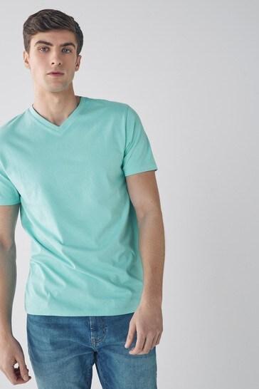 Aqua Regular Fit V-Neck T-Shirt