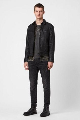 AllSaints Black Lark Leather Jacket