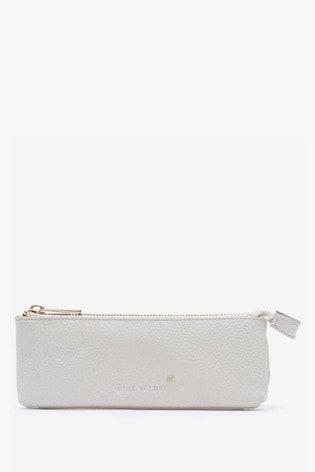 Mint Velvet Stone Leather Pencil Case