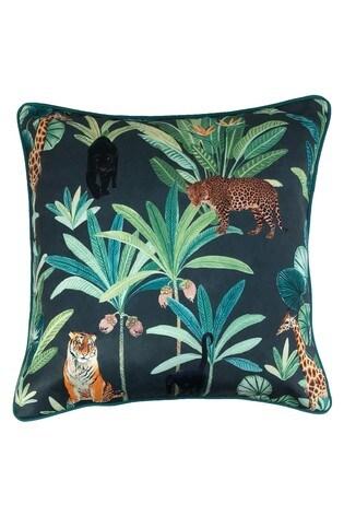 Riva Home Blue Ranthambore Jungle Cushion
