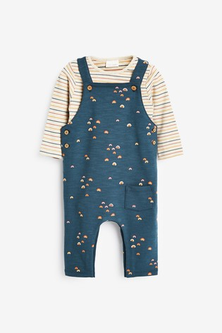 Navy Rainbow Dungarees And Bodysuit (0mths-3yrs)