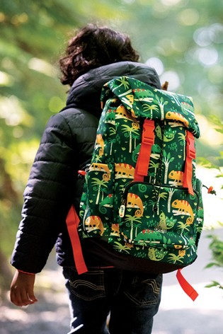 Frugi Recycled Polyester Hiking Rucksack - Green Chameleon