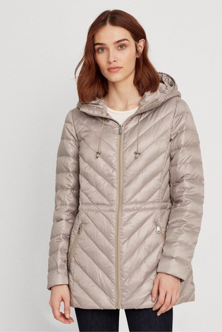 Lauren Ralph Lauren® Beige Down Quilted Jacket