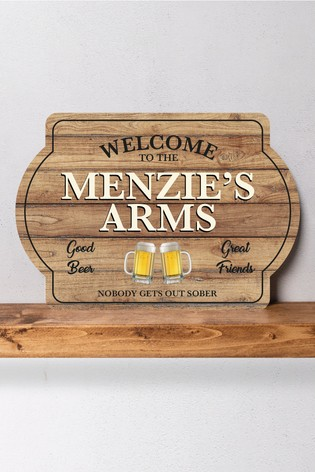Personalised Welcome To The.... Metal Wall Art/Metal Sign