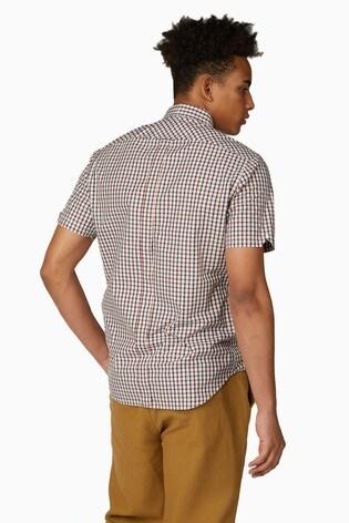 Ben Sherman Red Short Sleeve Signature House Check Shirt