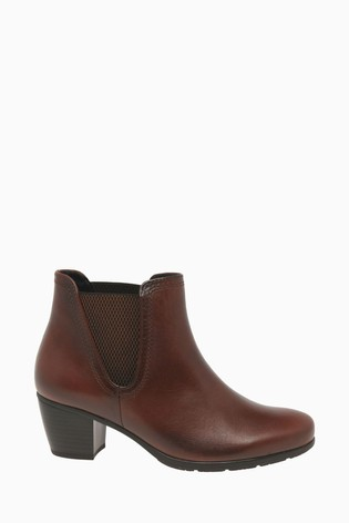 Gabor Ecological Whisky Leather Fashion Ankle Boots