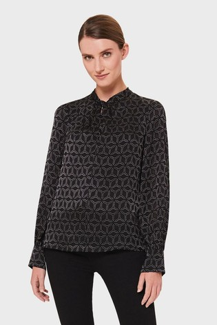Hobbs Black Karina Blouse