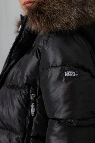 Superdry Sport Padded Borg Crop Jacket