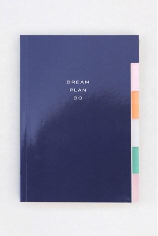 Caroline Gardner Multi Tab Navy Notebook