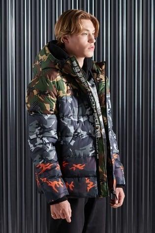 Superdry Camo Mix Sports Padded Jacket