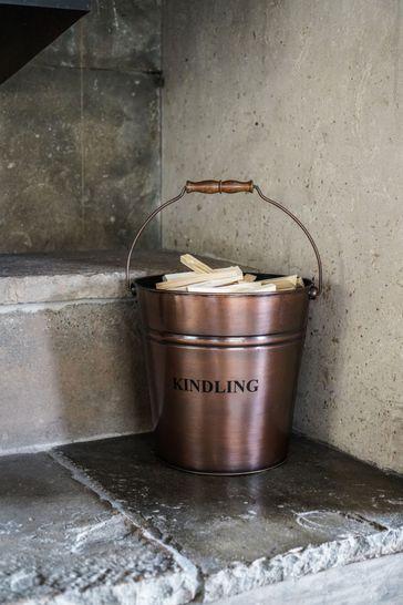 Antique Copper Kindling Bucket by Ivyline