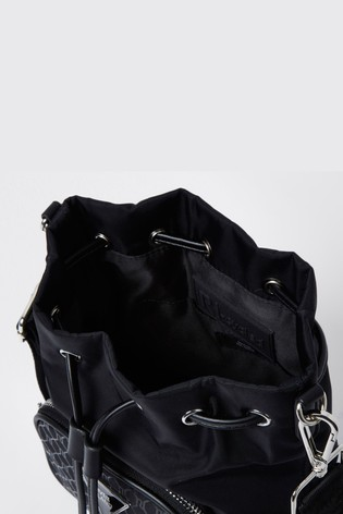 River Island Black Cycle Double Duffle Bag