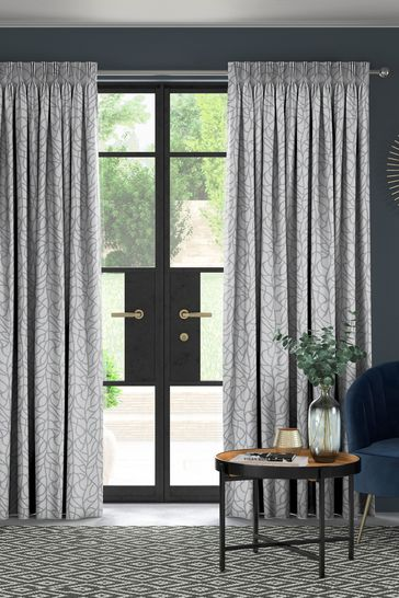 Winterton Silver Grey Made To Measure Curtains