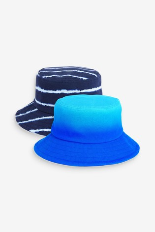 Blue Ombre/Tie Dye 2 Pack Bucket Hats (3mths-10yrs)